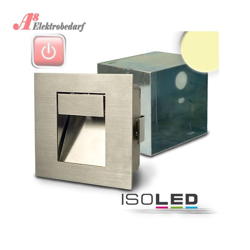 ISO111610 / LED Einbauleuchte rechteckig IP44, Edelstahl, 1W ...